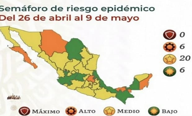 Puebla estará en amarillo en el Semáforo Covid hasta el 9 de mayo