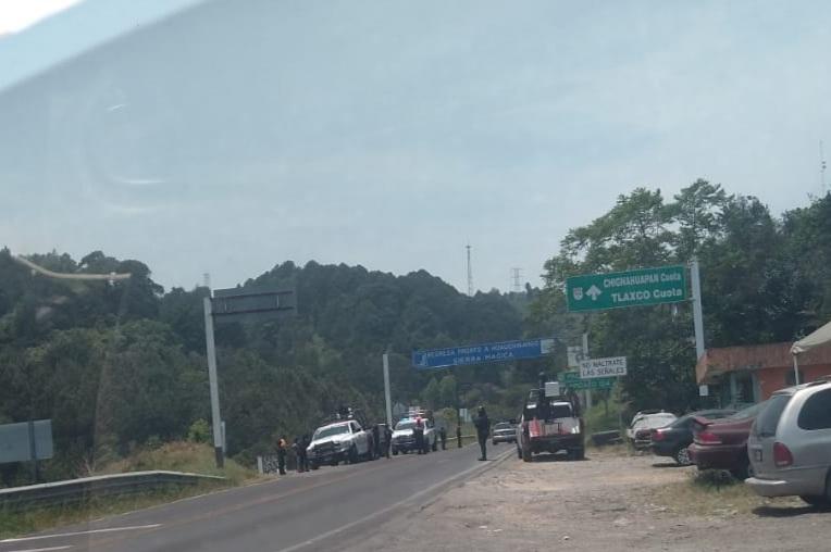 Policía Estatal montaron un importante operativo en la región de Huauchinango