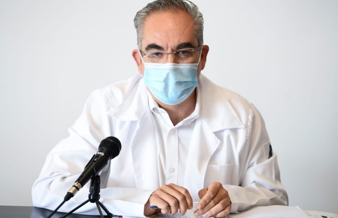 Video desde Puebla: Baja curva de contagios y fallecidos por covid en el estado, confirmó Martínez García