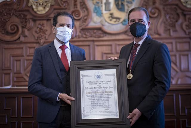 BUAP otorga Doctorado Honoris Causa al jurista Eduardo Ferrer Mac-Gregor Poisot