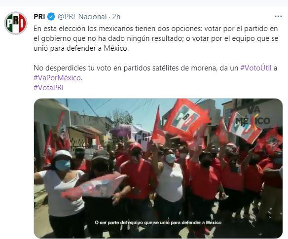 Pide PRI voto útil, para quitar la mayoría a Morena