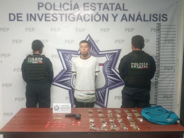 Policía Estatal detiene a presunto narcomenudista en la capital