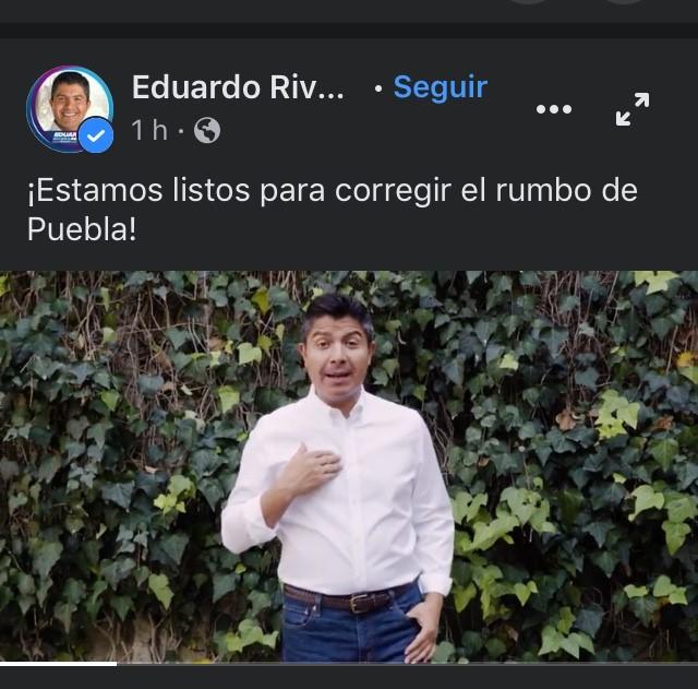 Eduardo Rivera Pérez candidato de Va por México a la alcaldía poblana arranca campaña con video promocional