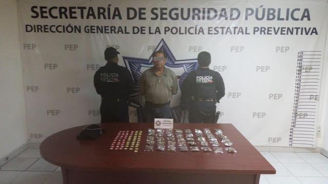 Policía Estatal detiene a presunto narcomenudista en huauchinango