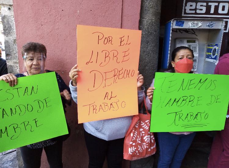 Video desde Puebla: Ferieros piden se les deje trabajar