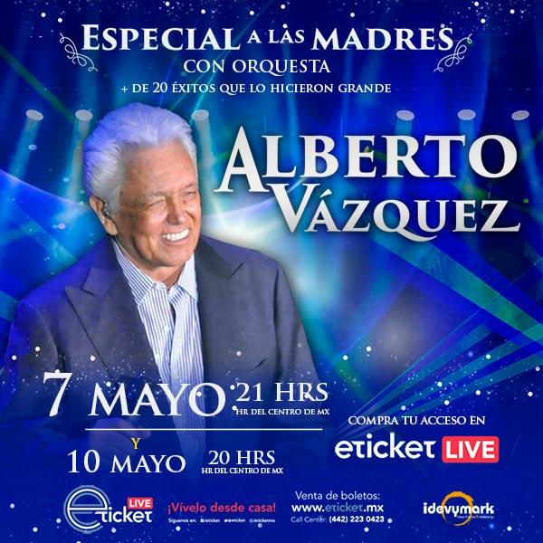 """Alberto Vázquez realizará concierto streaming """"Especial a las Madres"""" con orquesta"""