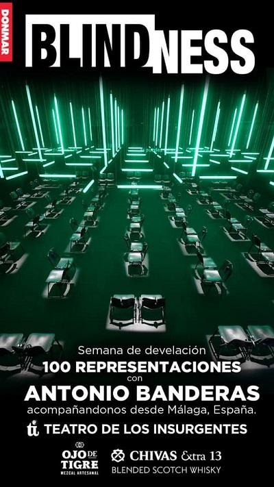 """Antonio Banderas develó placa por las 100 funciones de """"Blindness"""""""