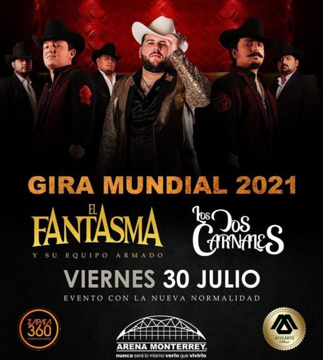 """El Fantasma y Los Dos Carnales presentarán en Arena Monterrey """"Cabrones y Vagos"""", su gira mundial 2020-2021"""