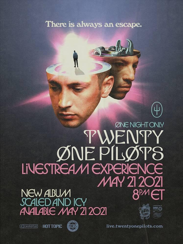 """""""Choker"""": nuevo sencillo de Twenty One Pilots, segunda canción de su nuevo álbum """"Scaled And Icy"""""""