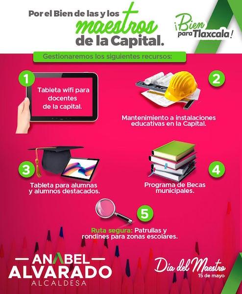 Anabel Alvarado Varela destacó cinco propuestas que mejorarán los niveles de aprendizaje en la capital