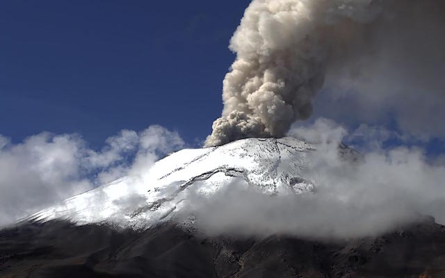 Popocatépetl registra 29 exhalaciones; semáforo se mantiene en amarillo fase 2: Cenapred