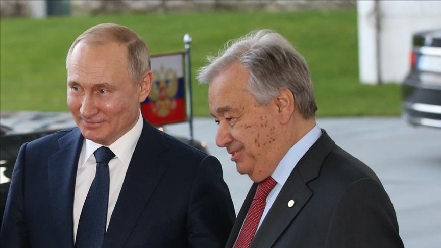 Guterres y Putin hablan de la necesidad de resolver los conflictos mediante el diálogo político y el respeto mutuo