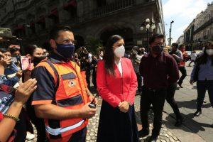 Video desde Puebla: Registra el ayuntamiento un tiempo de evacuación promedio de 2.15 minutos durante el Primer Simulacro Nacional 2021