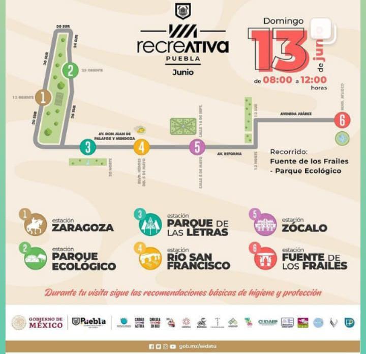 Ayuntamiento de Puebla realizará Vía Recreativa este domingo