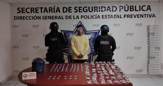 """Policía Estatal detiene a presunto vendedor de droga de """"Los Angelinos 13"""""""