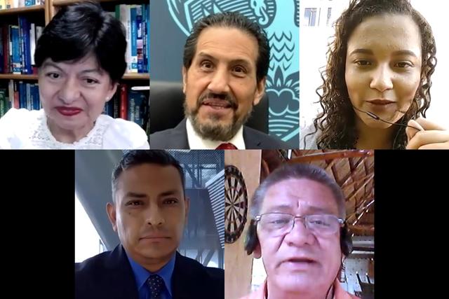 El Rector Alfonso Esparza Ortiz da la bienvenida a jóvenes del Programa Delfín 2021
