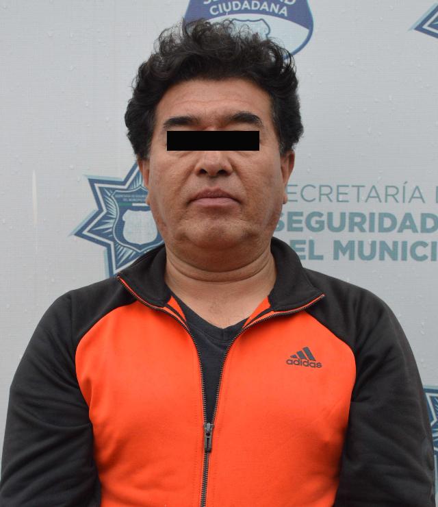 Oportunamente, detuvo Policía Municipal  de Puebla a hombre por robo de equipo topográfico