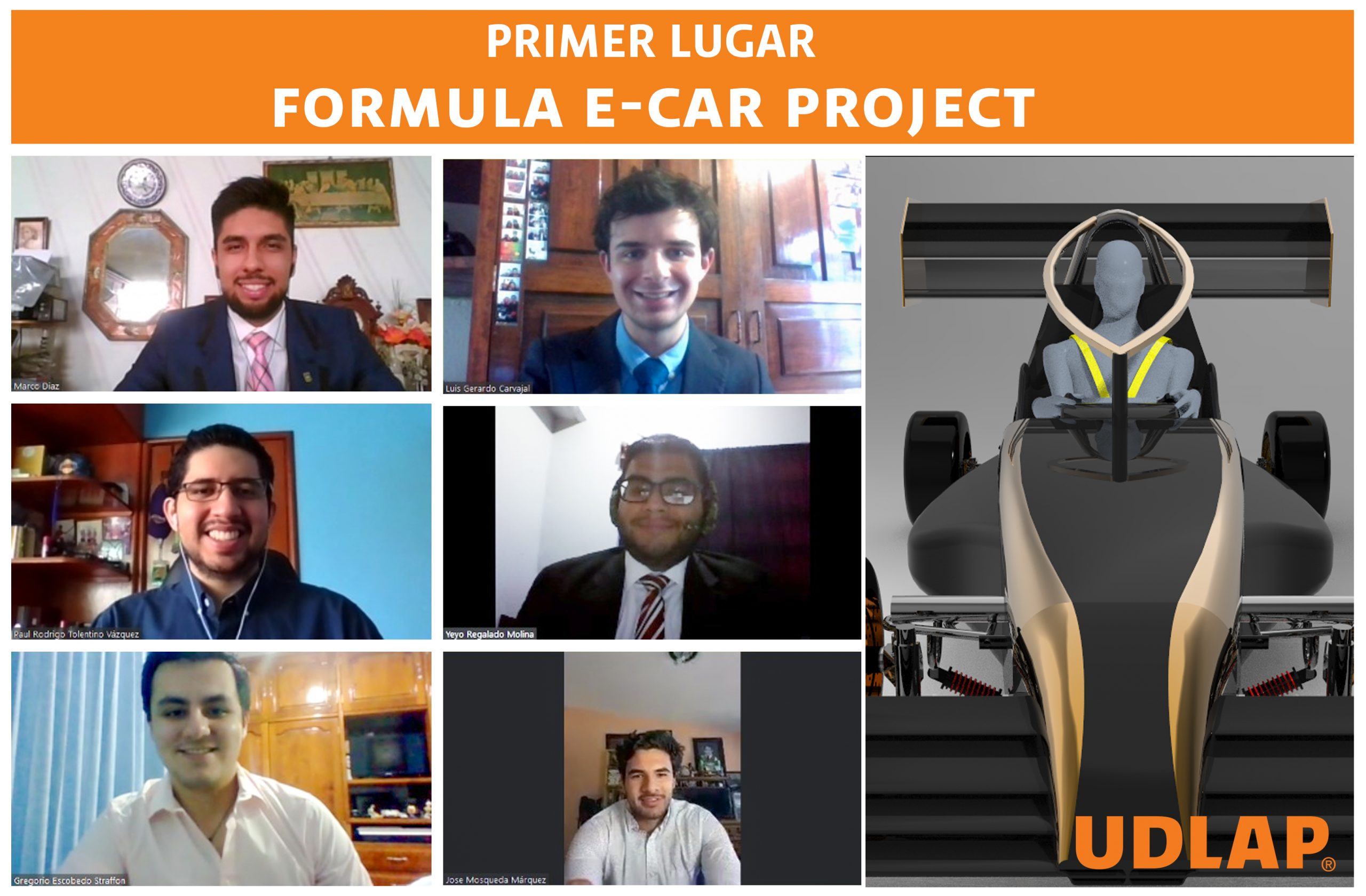 Equipo mexicano gana primer lugar en un concurso internacional de diseño de automóviles eléctricos