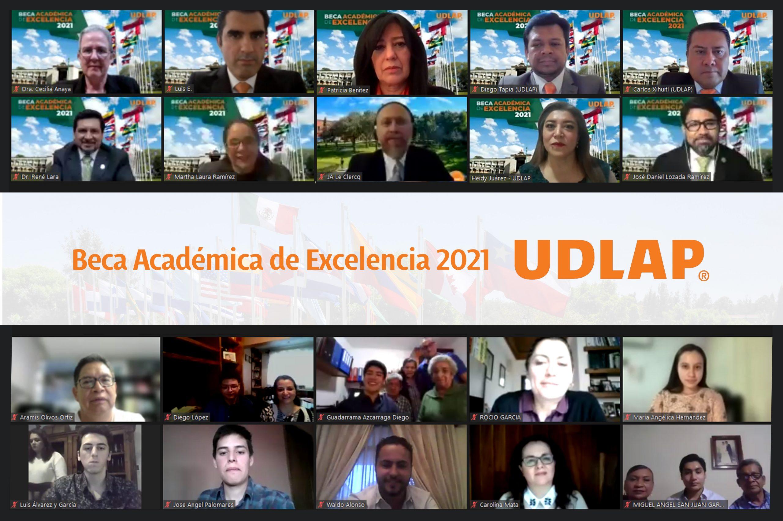 Estudiantes recibieron la Beca Académica de Excelencia de la UDLAP