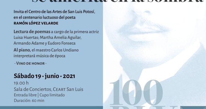 Luisa Huertas, en el Homenaje a Ramón López Velarde del CEARTSLP