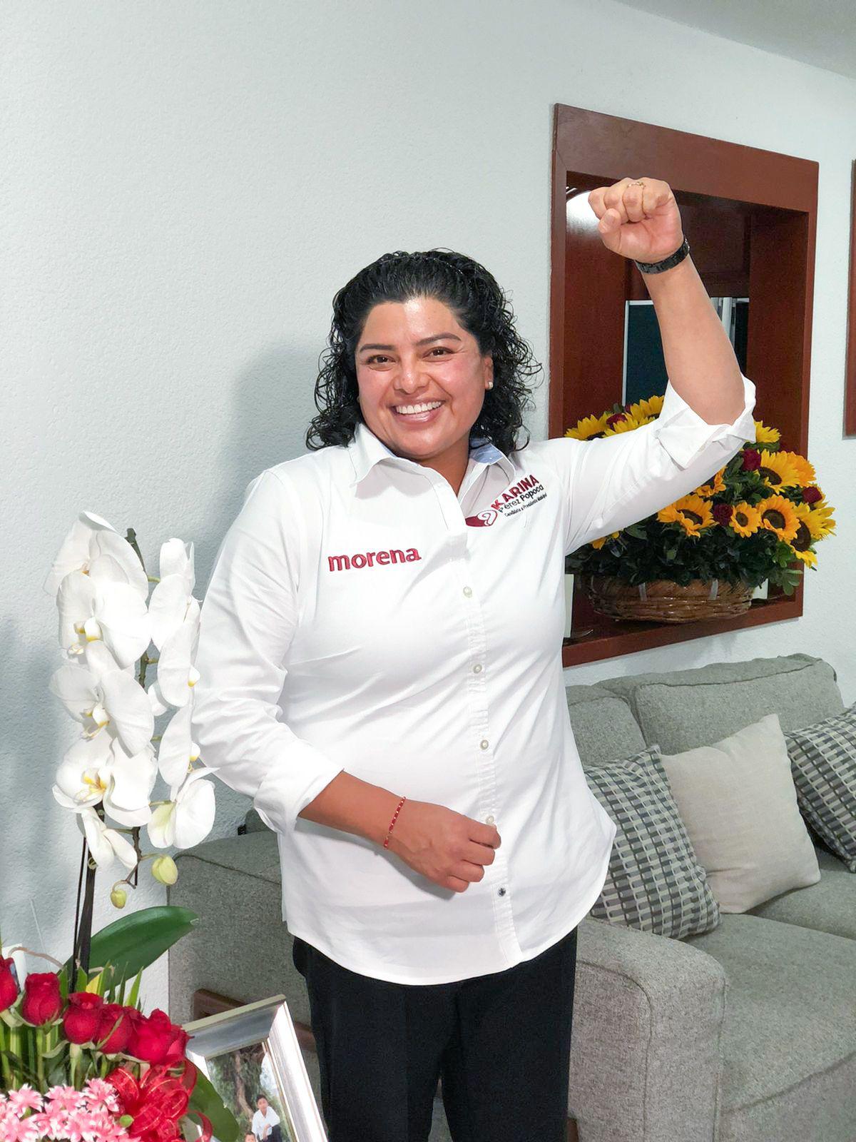 Karina Pérez Popoca brinda mensaje de agradecimiento rumbo al 6 de junio