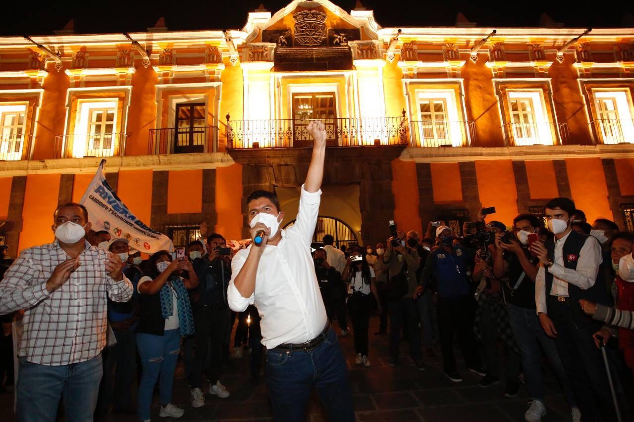 Líderes nacionales del PAN, PRI y PRD respaldan a Eduardo Rivera Pérez