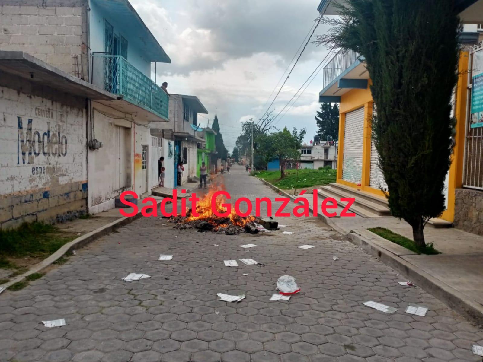 Queman boletas electorales, pero ahora en Nopalucan