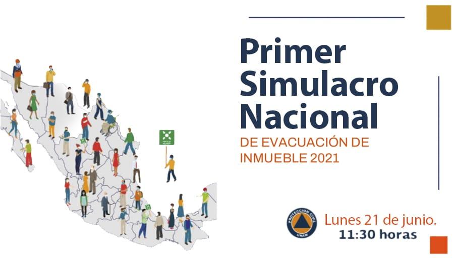 Simulacro Nacional lunes 21 de junio de 2021