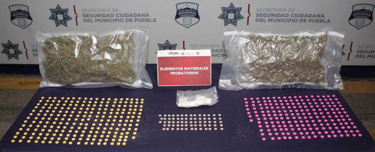 En lo que va de la administración, policía municipal de Puebla lleva detenidos a mil 200 por tráfico de drogas