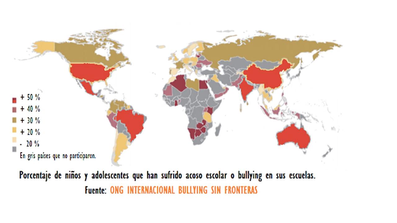 El Primer Estudio Mundial realizado por la ONG Internacional Bullying Sin Fronteras sitúa a México en el primer lugar