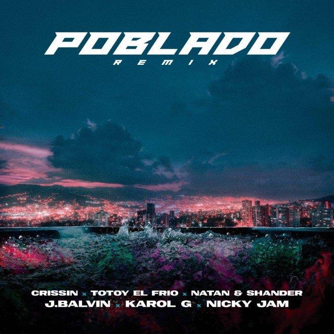 """J Balvin, Karol G y Nicky Jam lanzaron """"Poblado"""" Remix, con Crissin, Totoy El Frío, Natan y Shader"""