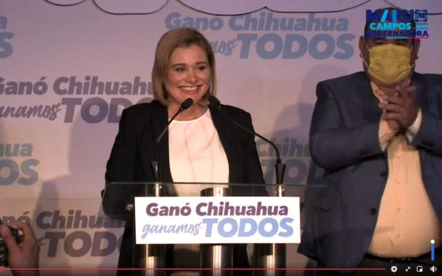 María Eugenia Campos anuncia triunfo en Chihuahua; Morena también señala ventaja