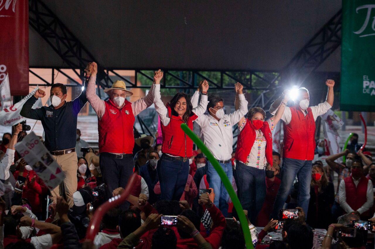 Anabel Alvarado cerró campaña por Tlaxcala capital