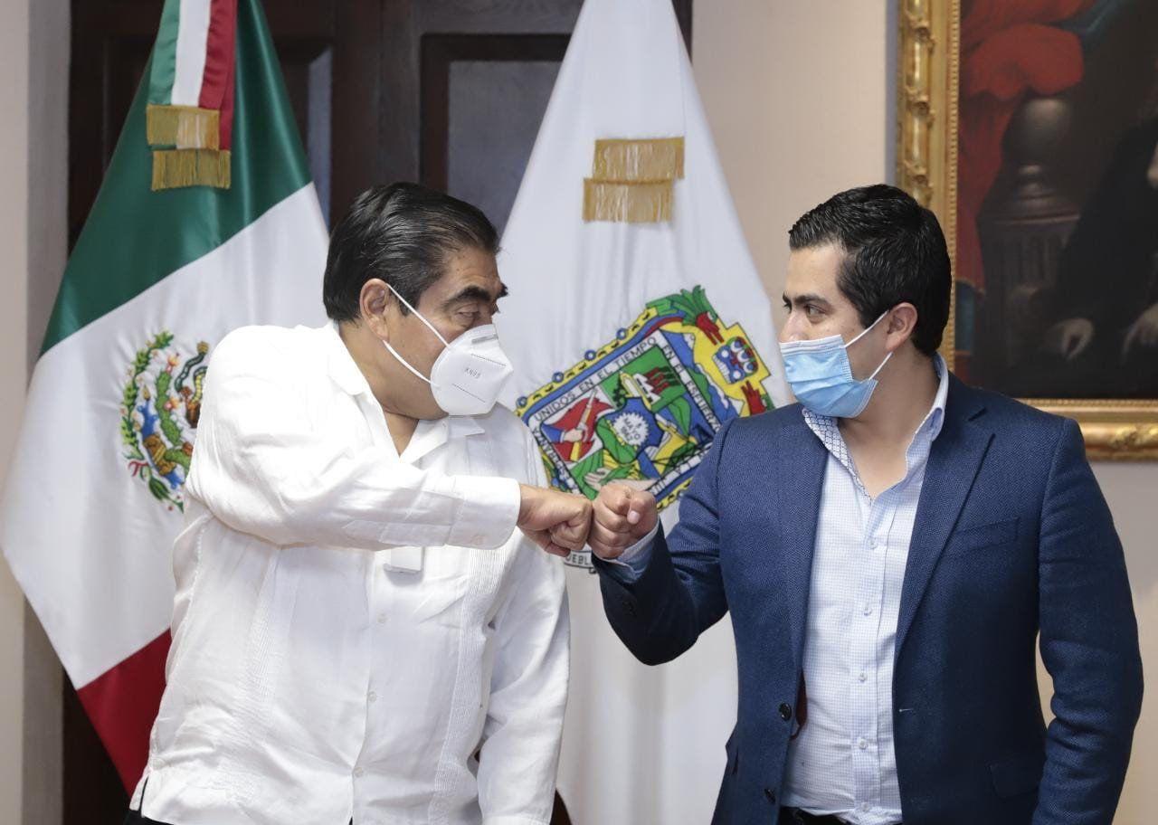 Se reúne el Presidente electo Lorenzo Rivera con el Gobernador Miguel Barbosa