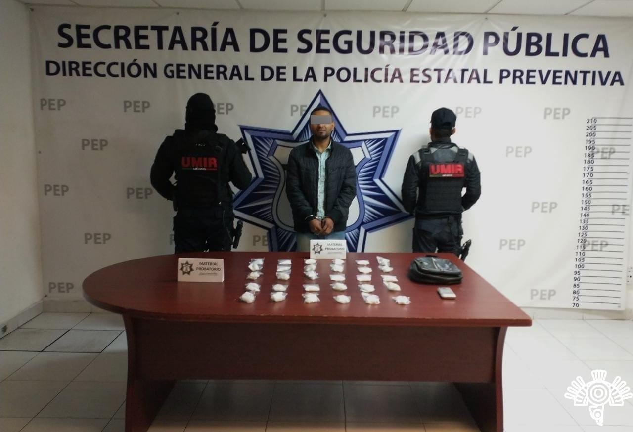 Detiene Policía Estatal a presunto narcovendedor