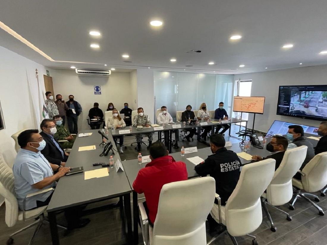 Marco Mena encabeza reunión del grupo de coordinación de seguridad ante jornada electoral