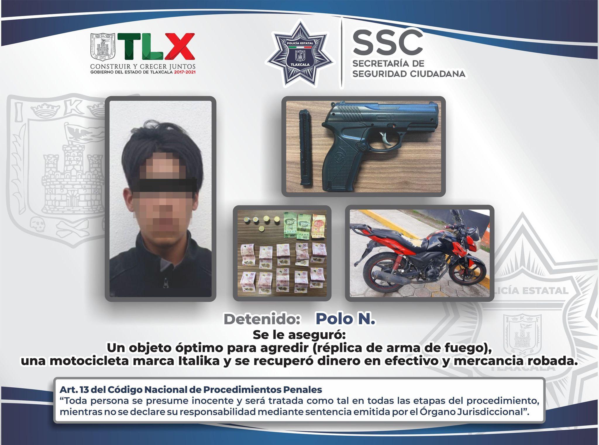 Desde Tlaxcala: SSC detiene a dos presuntos ladrones en Atlahapa