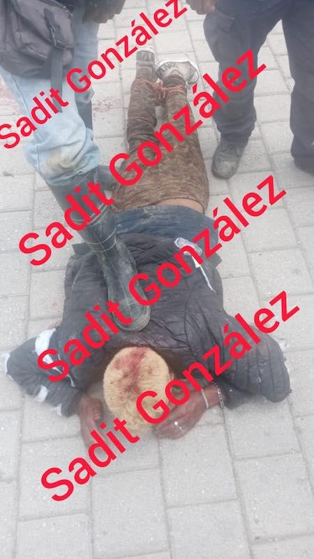 Detienen, golpean y amarran a presunto ladrón en Amozoc