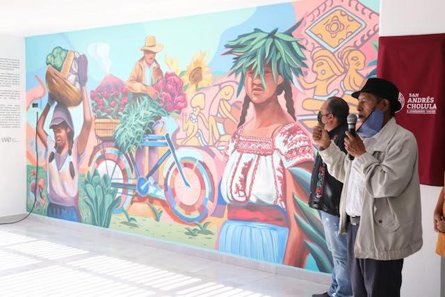 Arte y cultura inaugura mural que retrata la vida del municipio