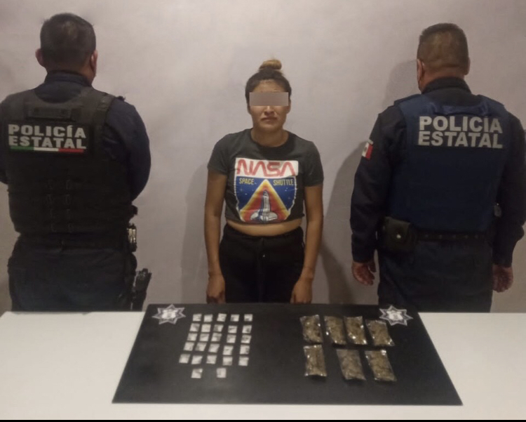 """Detiene Policía Estatal a """"Marichuy"""", presunta narcomenudista de Altepexi"""