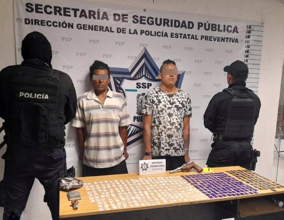 Captura Policía Estatal a dos presuntos distribuidores de droga