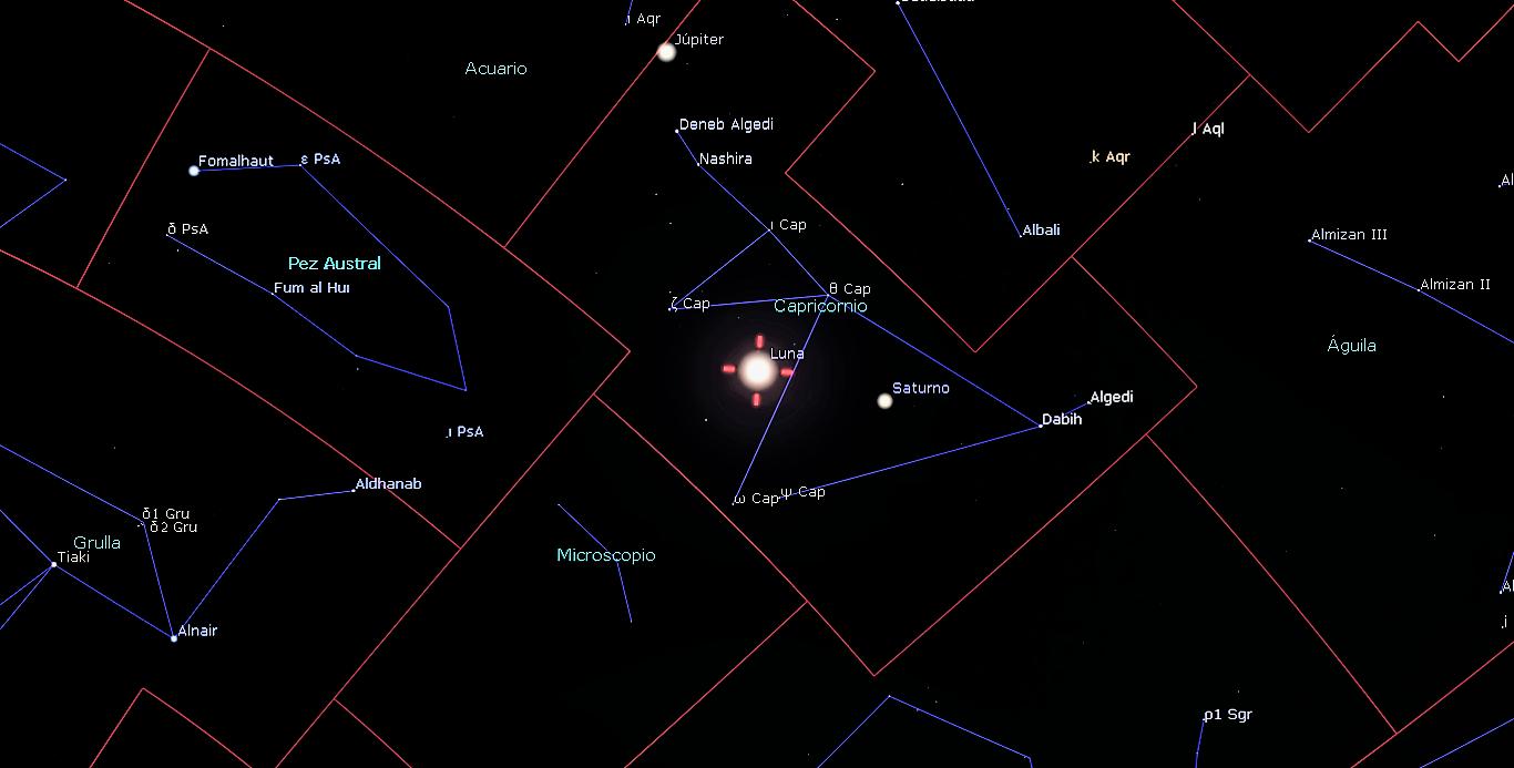 Eventos astronómicos del mes de agosto