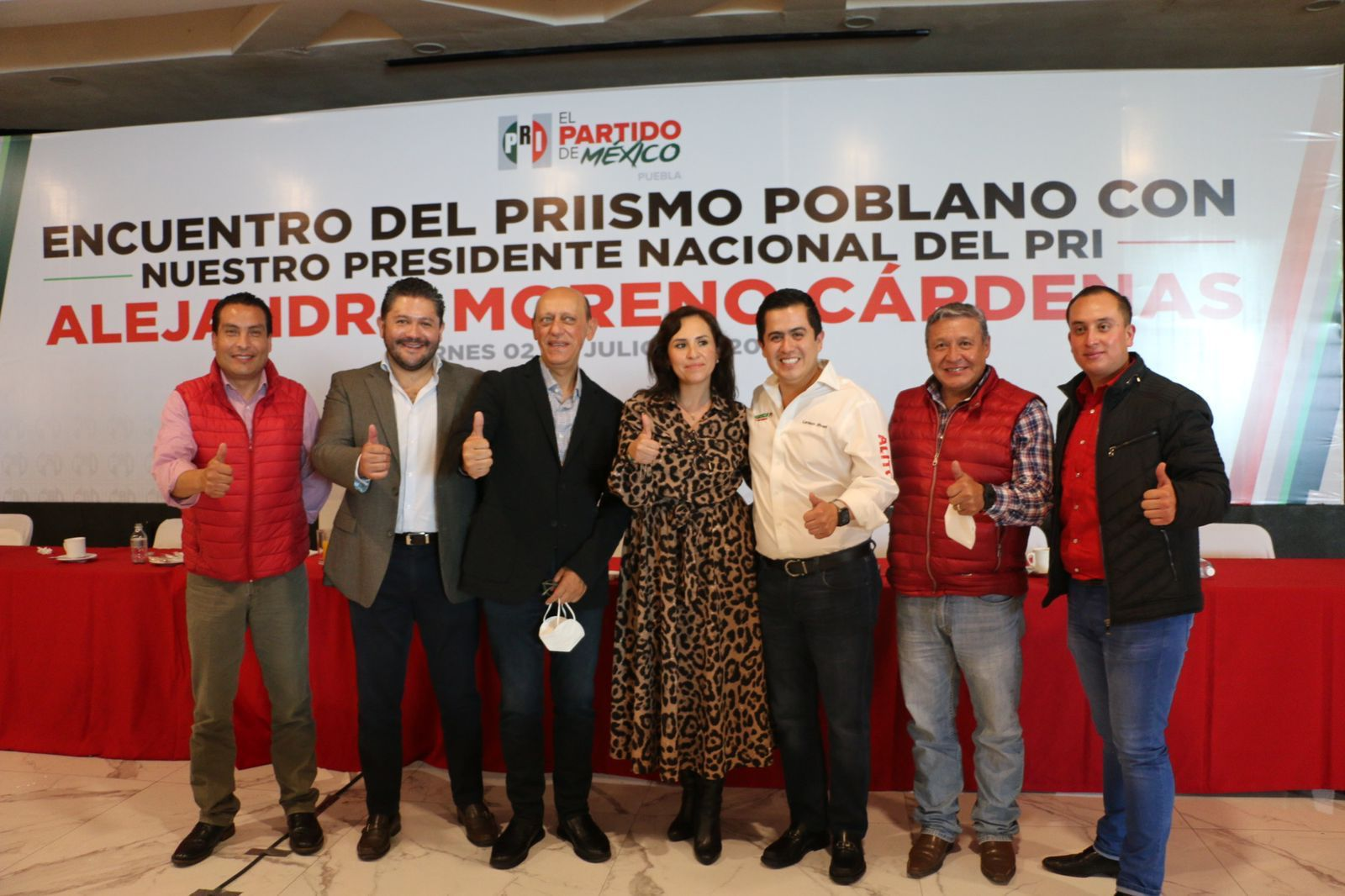 Lorenzo Rivera, destaca su trabajo de campaña, en reunión con el Dirigente Nacional del PRI, Alito Moreno