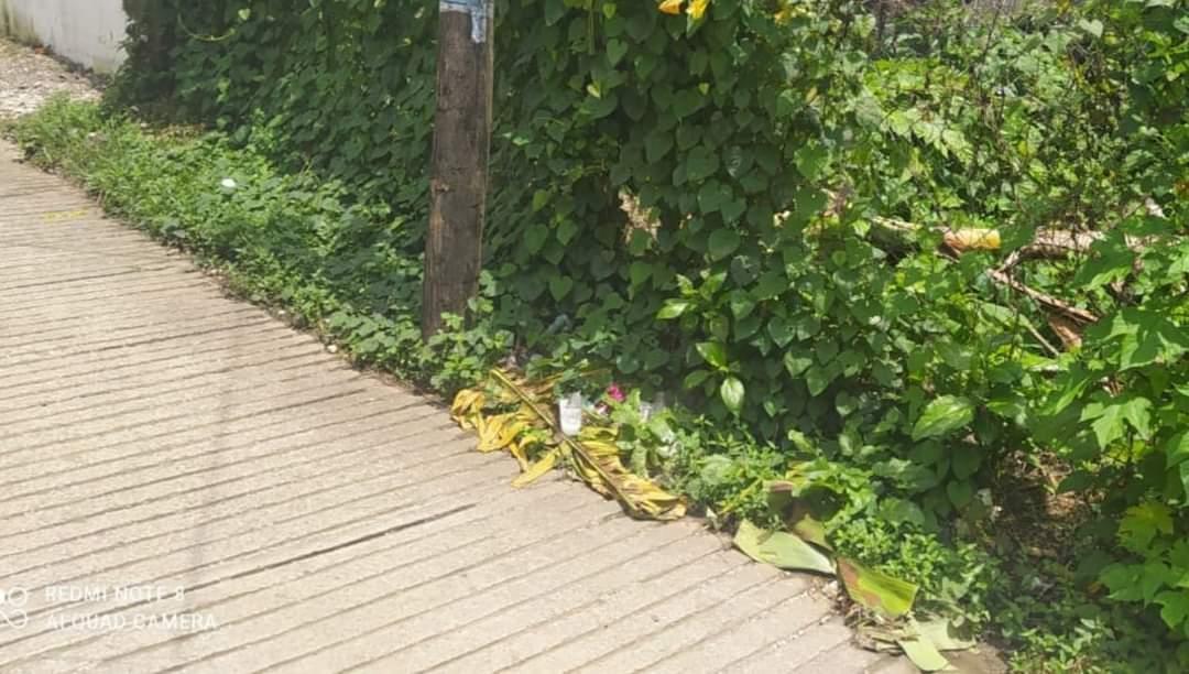 Lamentable un bebé prematuro fueencontrado sin vida envuelto en hojas de plátano