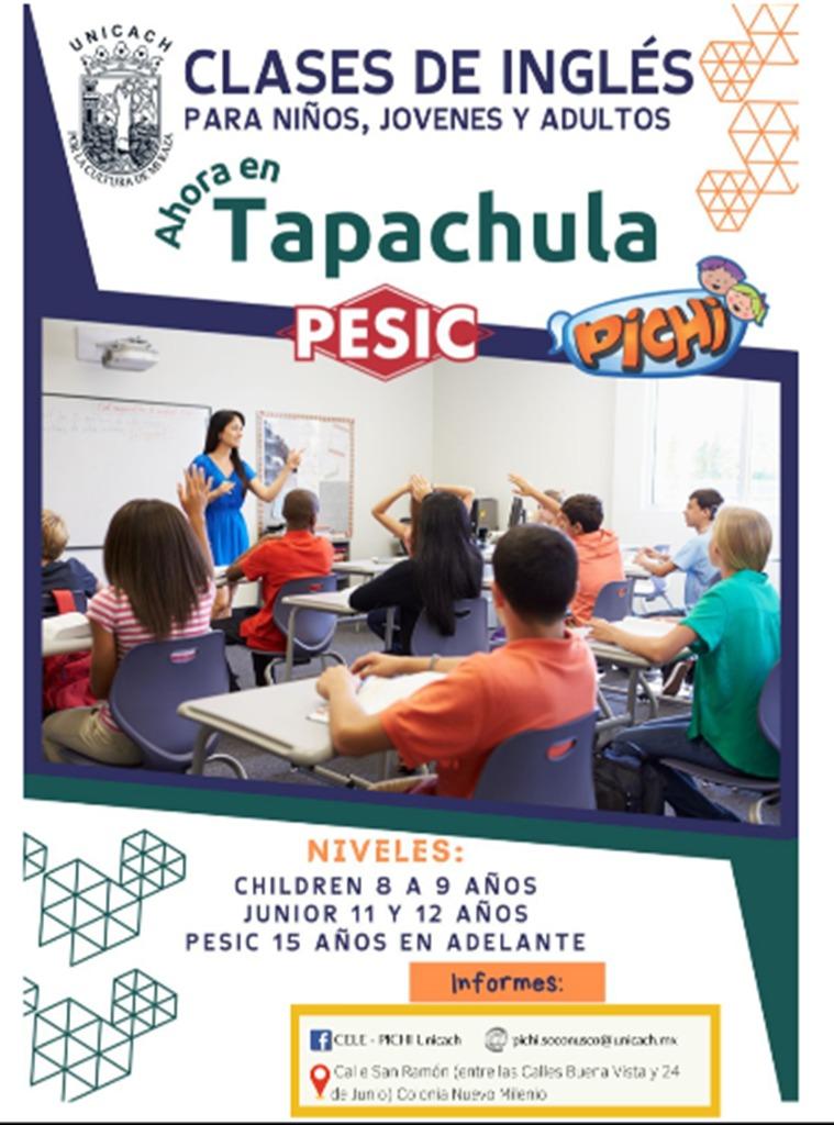 Unicach abre cursos de Inglés para niños en Tapachula