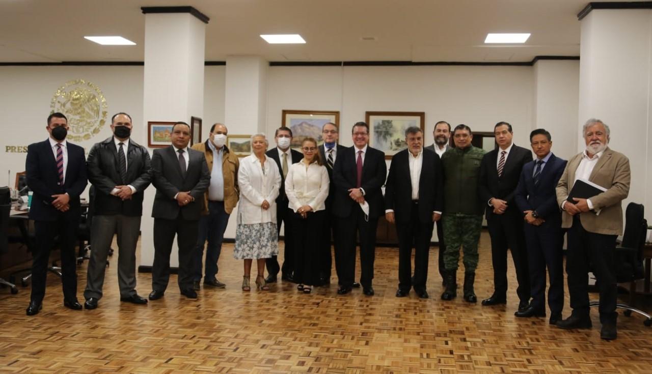 Desde Tlaxcala: Marco Mena se reúne con el gabinete federal de seguridad