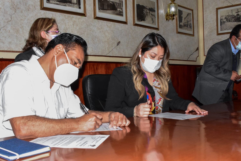 En un marco de respeto y colaboración, inició hoy el proceso de entrega-recepción en el Ayuntamiento de Tlaxcala
