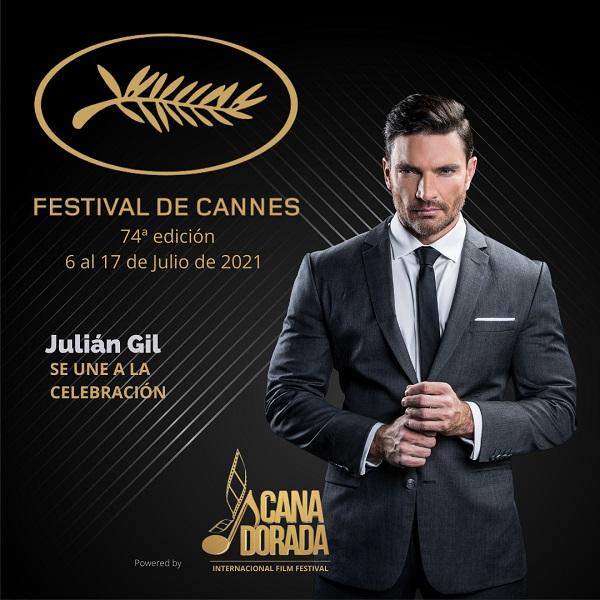 El actor Julián Gil estará como invitado especial en el Festival de Cine de Cannes