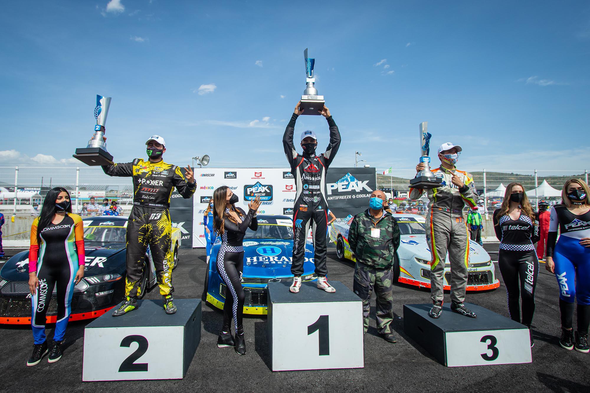 Nueva Victoria para Salvador de Alba Jr. y el Sidral AGA Racing Team, en NASCAR Peak México Series de Puebla