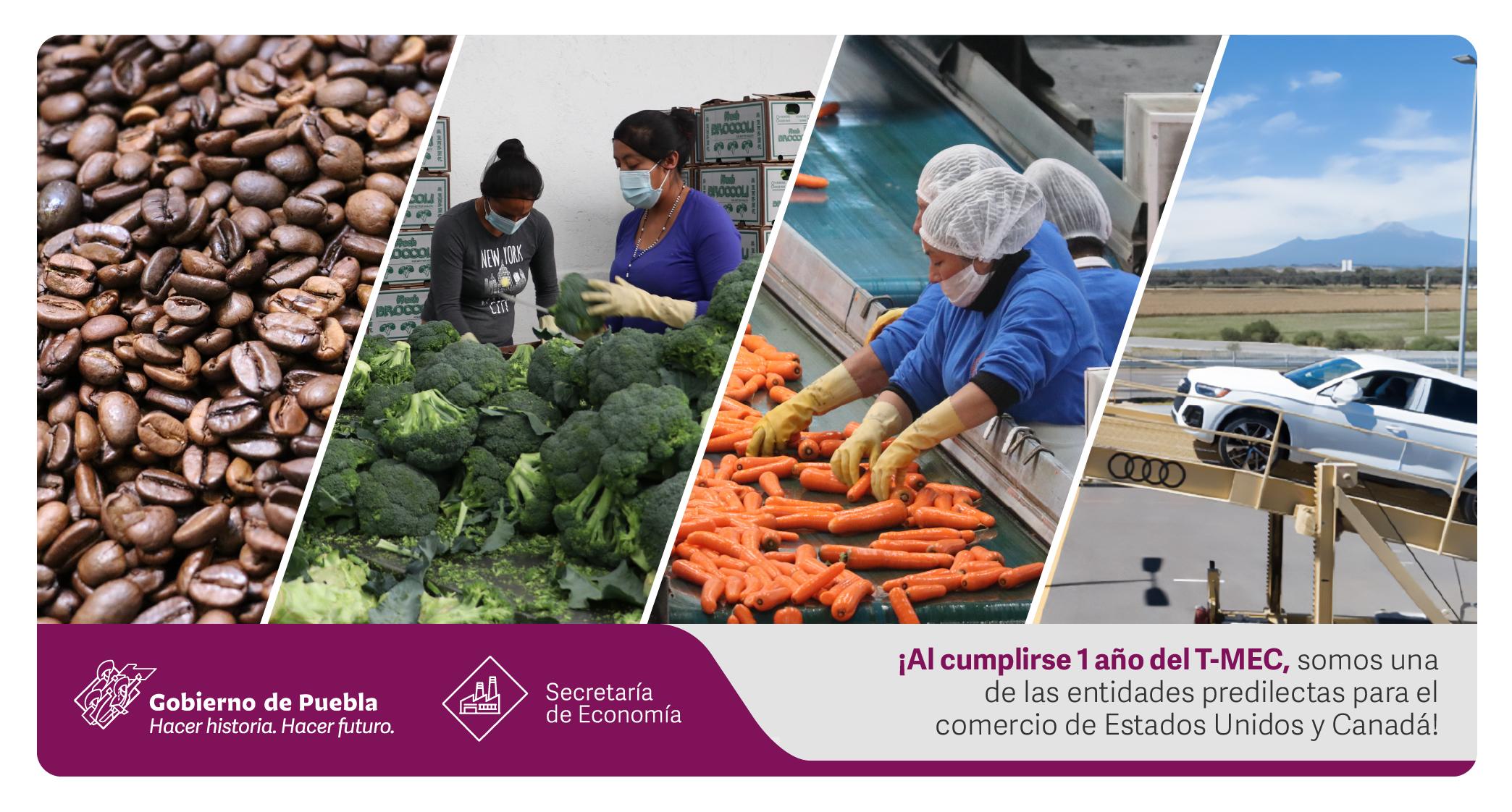 Puebla destino preferido de comercio e IED en zona T-MEC